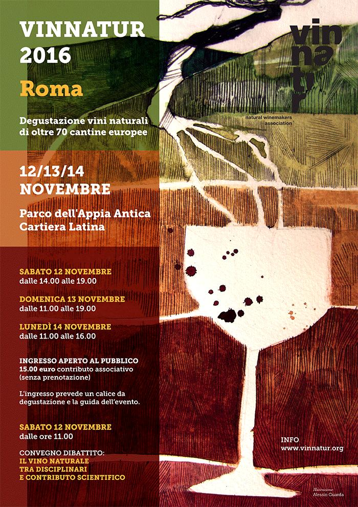 VinNatur 2016  per la prima volta a Roma: ex Cartiera Romana 12-14 novembre 2016